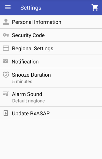 RxASAP application screenshot