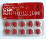 Sai Avana 100mg produced by Sai Balaji Pharmaceuticals